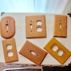 Pack of wooden socket covers